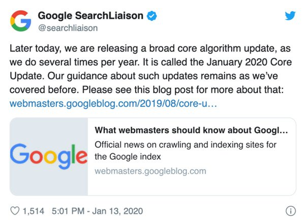 google-core-update-january-2020